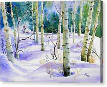 Winter Walk Canvas Print by Gail Vass