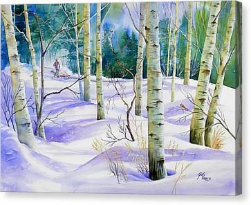 Winter Walk Canvas Print by Gail Vass