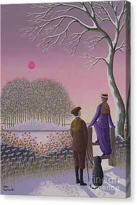 Winter Walking  Canvas Print by Peter Szumowski