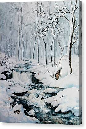 Winter Whispers Canvas Print by Hanne Lore Koehler