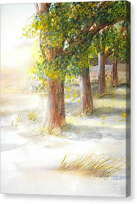 Winter Winds Canvas Print by Vivian  Mosley