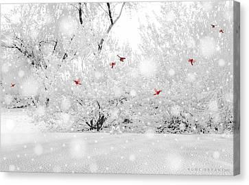 Winter, Winter Canvas Print