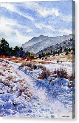 Canvas Print featuring the painting Winter Wonderland by Anne Gifford