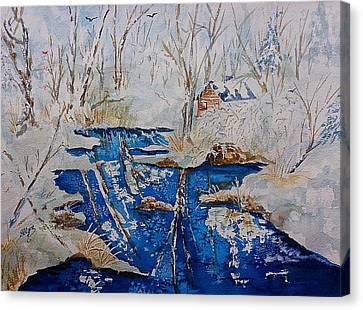 Winter Wonderland Catskills  Canvas Print by Ellen Levinson