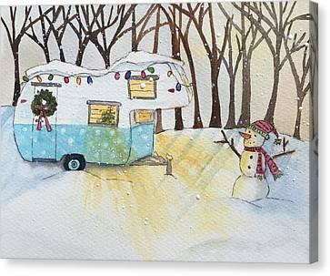 Winter Wonderland Glamping Canvas Print by Kerrie Hubbard
