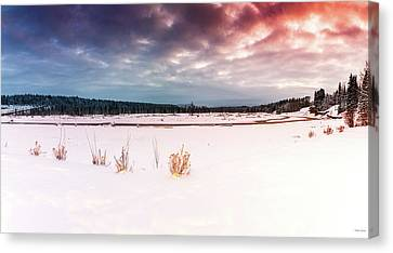 Winter Wonderland In Bragg Creek Canvas Print