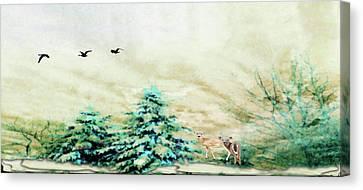 Winter Wonderland Canvas Print by Mike Breau