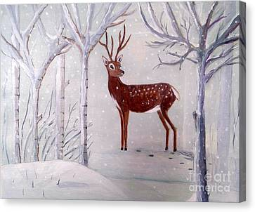Winter Wonderland - Painting Canvas Print by Veronica Rickard