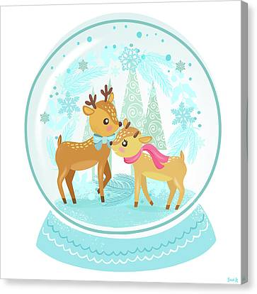 Winter Wonderland Snow Globe Canvas Print
