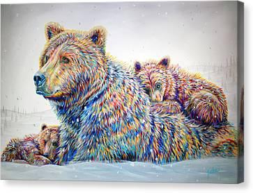 Winter Wonderland Canvas Print by Teshia Art