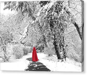 Winter Wonderland Walk II Canvas Print by Jessica Jenney