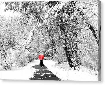 Winter Wonderland Walk Canvas Print by Jessica Jenney