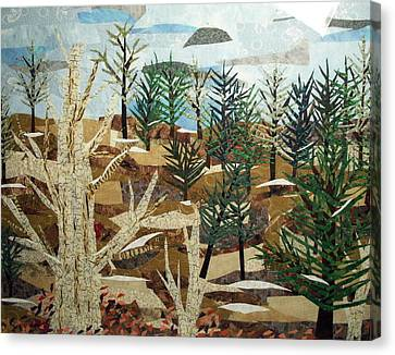 Winter Woods Canvas Print by Charlene White