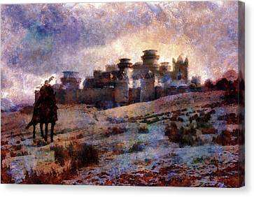 Winterfell Canvas Print by Lilia D