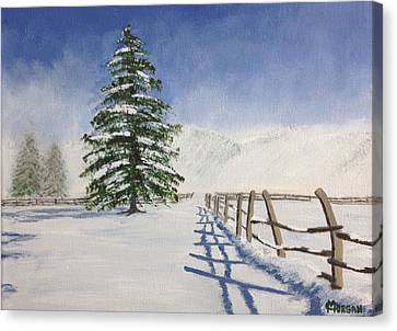 Winter's Beauty Canvas Print by Cynthia Morgan
