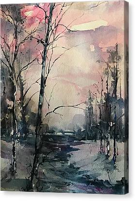 Winter's Blush Canvas Print by Robin Miller-Bookhout