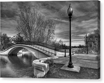 Canvas Print featuring the photograph Winter's Bridge by Rodney Campbell