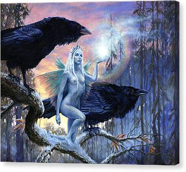 Winter's Dark Heralds Canvas Print by Richard Hescox