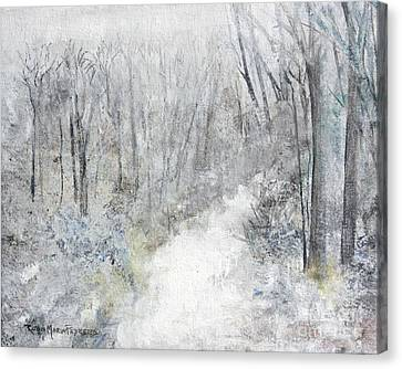 Canvas Print featuring the painting Winter's Day by Robin Maria Pedrero