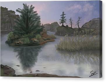 Winter's Edge Canvas Print by Steven Powers SMP