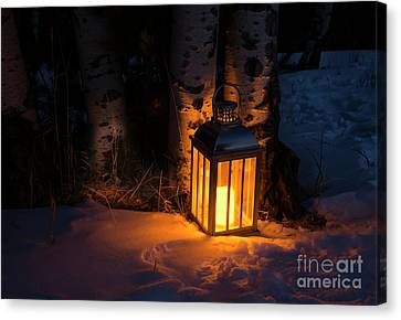 Canvas Print featuring the photograph Winter's Eve by The Forests Edge Photography - Diane Sandoval