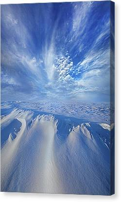 Canvas Print featuring the photograph Winter's Hue by Phil Koch