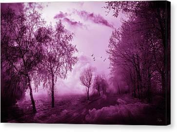 Fuschia Canvas Print - Winter's Kiss by KaFra Art