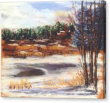 Winter's Light Canvas Print by Sandy Sereno