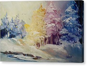 Canvas Print featuring the painting Winter's Pride by Helen Harris