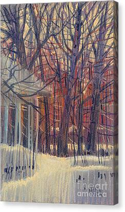 Winter's Snow Canvas Print by Donald Maier