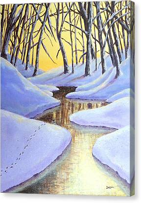 Canvas Print featuring the painting Winter's Warmth by Susan DeLain