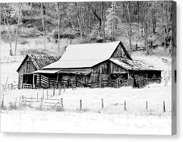 Sheds Canvas Print - Winter's White Shroud by Tom Mc Nemar