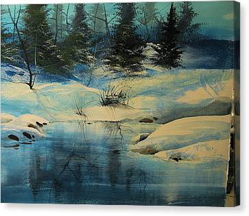 Winterscape Canvas Print by Robert Carver