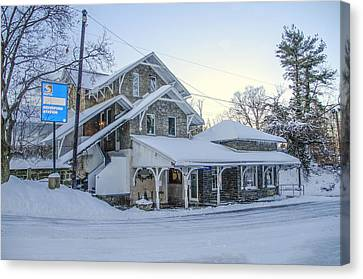 Wintertime Haverford Station Canvas Print