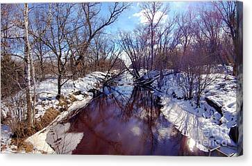 Wintertime In Necedah  Canvas Print by Ricky L Jones
