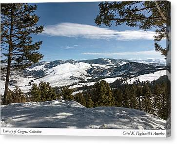 Canvas Print featuring the photograph Wintertime View From Hellroaring Overlook In Yellowstone National Park by Carol M Highsmith