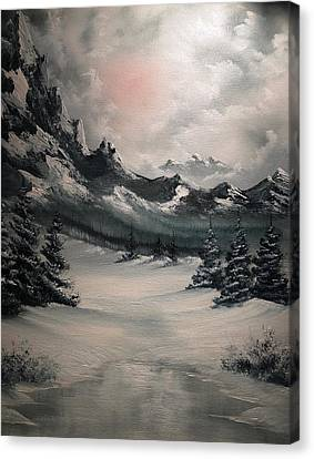 Bob Ross Canvas Print - Wintery Mountain by John Koehler