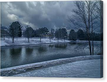 Icy Reflections  Canvas Print by Dennis Baswell