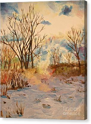 Canvas Print - Wintry Walk by Tina Sheppard