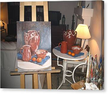 Wip Oil Painting Still Life Canvas Print