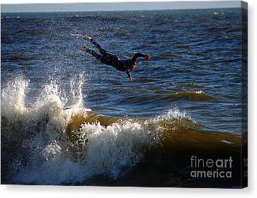 Wipe Out Canvas Print by Clayton Bruster