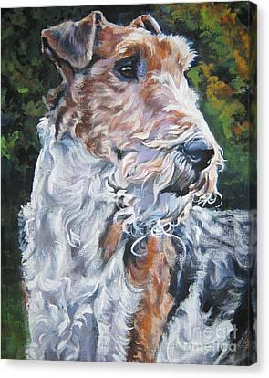 Wire Fox Terrier Canvas Print by Lee Ann Shepard