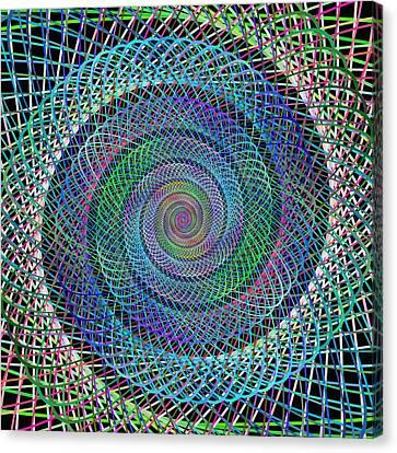 Wire Spiral Canvas Print by David Zydd