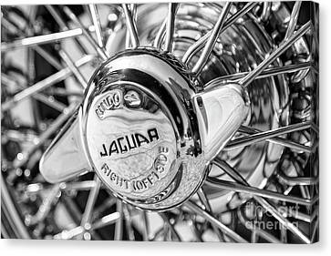 Canvas Print featuring the photograph Wire Wheel Black And White by Dennis Hedberg