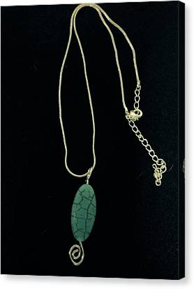 Canvas Print featuring the jewelry Wire Wrapped Pendant by J Cheyenne Howell