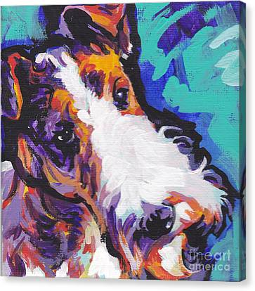 Fox Terrier Canvas Print - Wired by Lea S