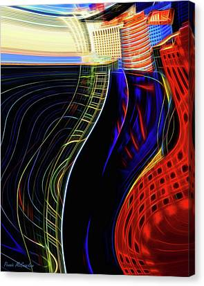 Technical Canvas Print - Wireless Wave by Pennie  McCracken