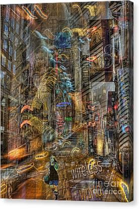 Wireless World Canvas Print by Jeff Breiman