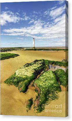 Canvas Print featuring the photograph Wirral Lighthouse by Ian Mitchell