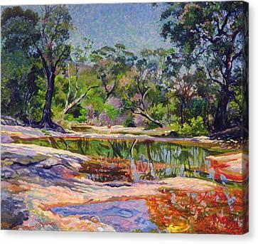 Wirreanda Creek - New South Wales - Australia Canvas Print by Robert Tyndall
